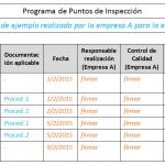 Cómo elaborar Planes de Calidad y Programas de Puntos de Inspección