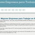 Las mejores empresas para trabajar en España 2012