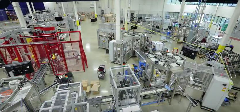 panta fábrica automatizada