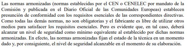 Ejemplo directivas marcado CE